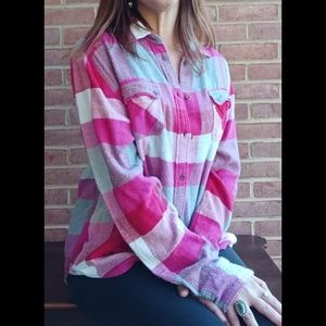 American Eagle Favorite Fit Flannel Top Size XL
